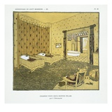 Bedroom for Two Small Girls, from 'Repertoire of Modern Taste', Published 1929 (Colour Litho) Gicléetryck av Jacques-emile Ruhlmann