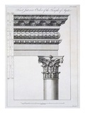 Order of the Portico to the Vestibulum in the Peristylium Giclee Print by Robert Adam