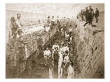 English Navvies and the Iron Horse (Sepia Photo) Giclee Print by Thomas Birtles
