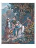 Elysium, Engraved by Augustin Le Grand (Coloured Engraving) Giclee Print by Jean-frederic Schall