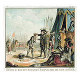 Henri II (1519-59) Receives Jean De Tavanes as a Knight into His Order, Engraved by Roger, 1788 Giclee Print by Antoine Louis Francois Sergent-marceau