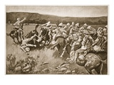 The Ambuscade at Koorn Spruit Reproduction proc&#233;d&#233; gicl&#233;e par Lance Thackeray