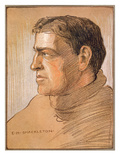 Portrait of Shackleton, from 'The Heart of the Antarctic' by Sir Ernest Shackleton (1874-1922) Giclee Print by George Marston