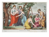 The Birth of Adonis, Book X, Illustration from Ovid's Metamorphoses, Florence, 1832 Giclee Print by Luigi Ademollo