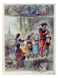 The Pied Piper of Hamelin, C.1880 (Colour Litho) Giclee Print by Carl Offterdinger