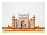 Entrance to the Taj Mahal (Colour Litho) Giclee Print by  German