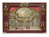Set Design for the Theatre at Versailles (Colour Litho) Premium Giclee Print by  French