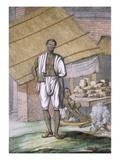 Houalouays', a Confectioner or Pastry Cook Giclee Print by Franz Balthazar Solvyns