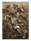 The Attack Force Massacred Italians on the Road to Cividale with Machine-Gun Fire (B/W Photo) Giclee Print by  German photographer