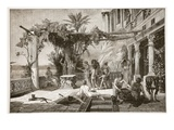 Tiberius at Capreae (Litho) Reproduction procédé giclée par  English