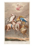 Phaeton Is Blasted by Jove, Illustration from Ovid's Metamorphoses, Florence, 1832 Giclee Print by Luigi Ademollo