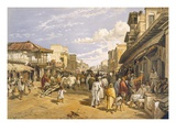 The Chitpore Road, from 'India Ancient and Modern', 1867 (Colour Litho) Giclee Print by William 'Crimea' Simpson