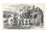Miss Kennedy Distributing Clothing at Kilrush, from 'The Illustrated London News', 1849 (Engraving) Giclee Print by  English