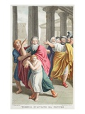 Tiresias Dismissed by Pentheus, Book III, Illustration from Ovid's Metamorphoses, Florence, 1832 Giclee Print by Luigi Ademollo