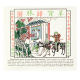 European Foreigners at the Gate of a Temple of Confucius Giclee Print by  Chinese