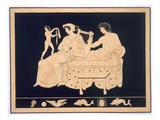 Couple Relaxing with a Lyre, Published 1808-10 (Colour Litho) Giclee Print by  French