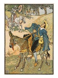 The Rich Winning of the Helmet of Mambrino, Illustration from 'Don Quixote of the Mancha' Giclee Print by Walter Crane