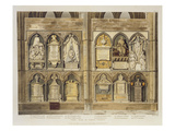 West Side of Poet&#39;s Corner, Plate 24 from &#39;Westminster Abbey&#39;, Engraved by J. Bluck (Fl.1791-1831) Reproduction proc&#233;d&#233; gicl&#233;e par H. Villiers
