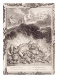 The Death of Hercules, 1731 (Engraving) Giclee Print by Bernard Picart