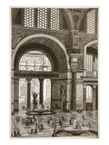 Baths of Caracalla (Restored) (Litho) Giclee Print by  English