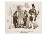 The Boy-Crossing Sweepers, from the Daguerreotype by Richard Beard Giclee Print by  English