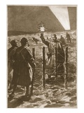 A Christmas Incident in the Trenches in the West (Litho) Giclée-Druck von Frederic Villiers
