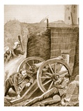 Robert's Narrow Escape at the Siege of Delhi in September 1857 (Litho) Giclee Print by  English