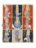 Buddhists Representing the Stars, Sun and Moon, from 'The History and Doctrine of Buddhism' Giclee Print by  English