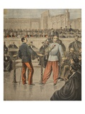 Colonel Henry and Lieutenant-Colonel Picquart Speaking before the Court of Assisses Giclee Print by Henri Meyer