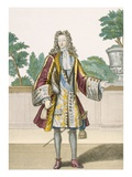 Monsieur Le Comte De Toulouse, 1690 (Coloured Engraving) Premium Giclee Print by  French