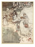 She Never Had So Sweet a Changeling, Illustration from 'Midsummer Nights Dream' Giclee Print by Arthur Rackham