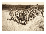 Romanian Prisoners Arrive from the Battle at Focsani (B/W Photo) Giclee Print by  German photographer