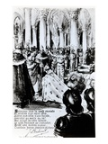 The Crowning of Charles Vii in Reims, C.1910 (Engraving) Giclee Print by Leon Pousthomis