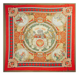 Shawl Commemorating 25 Years of the Reign of Alexander Ii (1818-81) Emperor of Russia (Textile) Giclee Print by  Russian