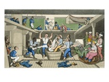 Crossing the Line, Plate from 'The Adventures of Johnny Newcome in the Navy' Giclee Print by Thomas Rowlandson