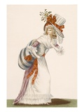 Ladies Striking Day Dress, Plate from &#39;Galeries Des Modes Et Costumes Francais&#39;, C.1778-87 Giclee Print by Jean Florent Defraine