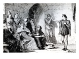 The Trial of Joan of Arc in Rouen (Engraving) Giclee Print by  French
