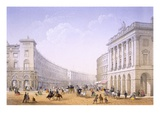 The Quadrant and Regent Street, London, 1862 (Colour Litho) Giclee Print by Achille-louis Martinet