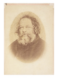 Portrait of Mikhail Alexsandrovich Bakunin (1814-1876), by O.Meistring, Geneva 1867 (Sepia Photo) Giclee Print by O. Meistring