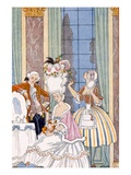 France in the 18th Century, from 'The Art of Perfume', Pub. 1912 (Pochoir Print) Giclee Print by Georges Barbier