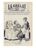 The Wilson Affair, Front Cover of 'Le Grelot', 27th November 1887 (Litho) Giclee Print by  French
