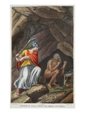 Minerva Visits Envy, Illustration from Ovid's Metamorphoses, Florence, 1832 Giclee Print by Luigi Ademollo