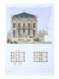 Louis Xiii House, from 'Town and Country Houses Based on the Modern Houses of Paris', C.1864 Giclee Print by  Olive