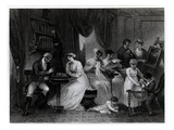 Drawing Room Scene, from 'The Social Day' by Peter Coxe, Engraved by Anker Smith (1759-1819) Giclee Print by Henry Singleton