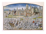 T.2 Fol.287 Victory of the Inhabitants of Ghent Led by Philipp Van Artevelde before Bruges in 1381 Lámina giclée por French
