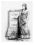 A Woman Is Equal to a Man, Printed by Lemercier and Co., Paris, 1881 (Litho) Giclee Print by  French