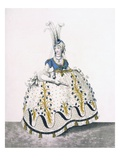 Court Dress, Fig No.130 from 'The Gallery of Fashion', 1797 (Coloured Engraving) Giclee Print by Nicolaus von Heideloff