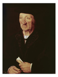Portrait of an Old Man (Oil on Panel) Giclee Print by Joos Van Cleve