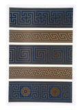 Greek Ornament: Bands or Borders in Dark on Light and Light on Dark Colours Reproduction procédé giclée par George Ashdown Audsley