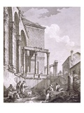 Side View of the Temple of Jupiter Giclee Print by Robert Adam
